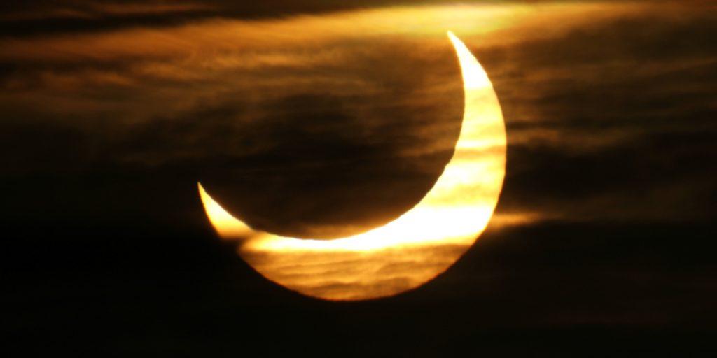 Partial solar eclipse, January 2011